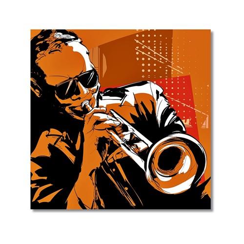 Tictac Jazz Müzisyenleri 5 Kanvas Tablo - 50X50 Cm