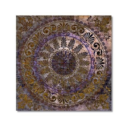 Tictac Dekoratif Kubbe Kanvas Tablo - 60X60 Cm