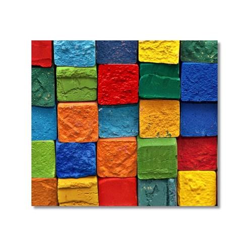 Tictac Renkli Taşlar Kanvas Tablo - 50X50 Cm