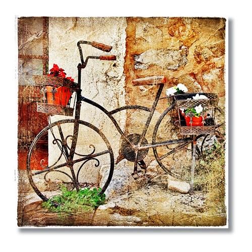 Tictac Bisiklet Kanvas Tablo - 60X60 Cm