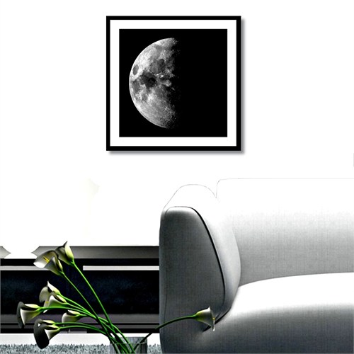 Tictac Yarım Ay 2 Kanvas Tablo - 60X60 Cm
