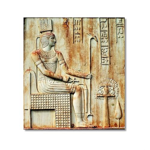 Tictac Mısır Sembolleri Kanvas Tablo - 70X70 Cm