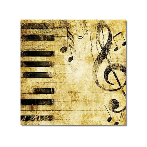 Tictac Piano Ve Müzik 1 Kanvas Tablo - 70X70 Cm