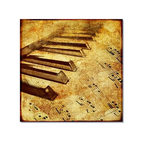 Tictac Piano Ve Müzik 2 Kanvas Tablo - 60X60 Cm
