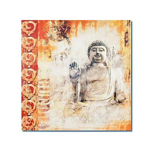 Tictac Buddha 1 Kanvas Tablo - 60X60 Cm