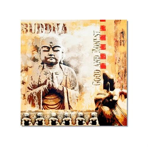 Tictac Buddha 2 Kanvas Tablo - 50X50 Cm