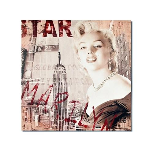 Tictac Marilyn Ve New York 1 Kanvas Tablo - 50X50 Cm