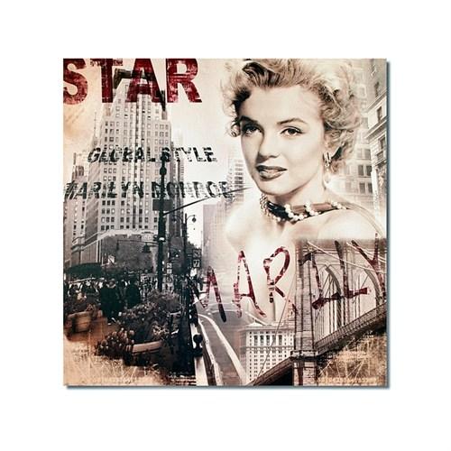 Tictac Marilyn Ve New York 2 Kanvas Tablo - 50X50 Cm