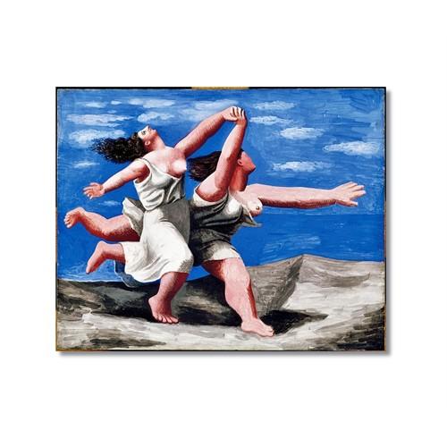 Tictac Picasso Koşan Kadınlar Kanvas Tablo - 70X70 Cm