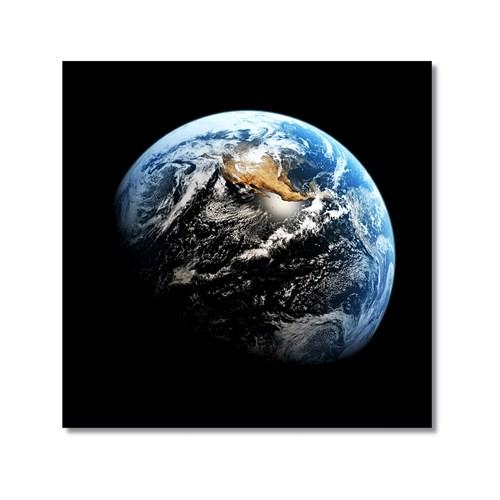 Tictac Uzaydan Dünya Kanvas Tablo - 70X70 Cm