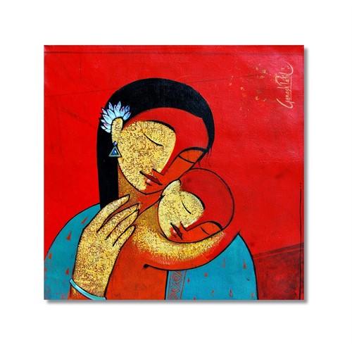 Tictac Anne Sevgisi Kanvas Tablo - 70X70 Cm