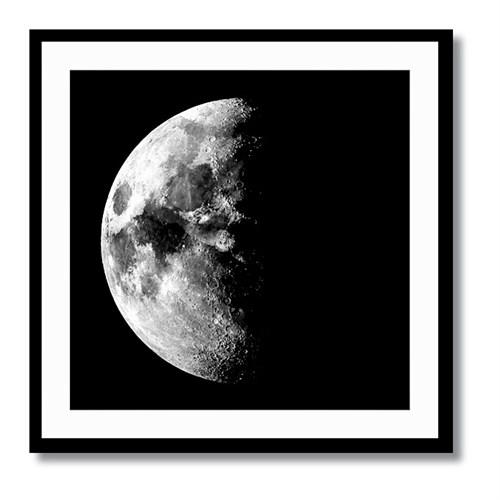 Tictac Ay Kanvas Tablo - 60X60 Cm