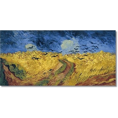 Tictac Van Gogh Başak Tarlası Kanvas Tablo - 50X100 Cm