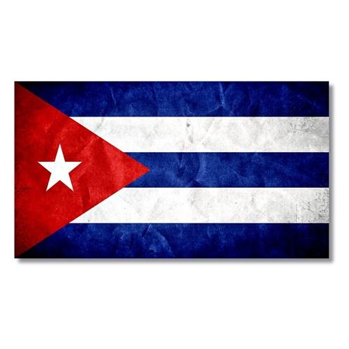 Tictac Küba Bayrağı Kanvas Tablo - 50X100 Cm