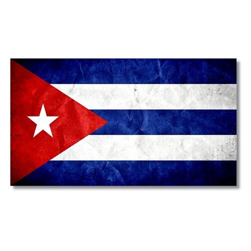 Tictac Küba Bayrağı Kanvas Tablo - 40X80 Cm