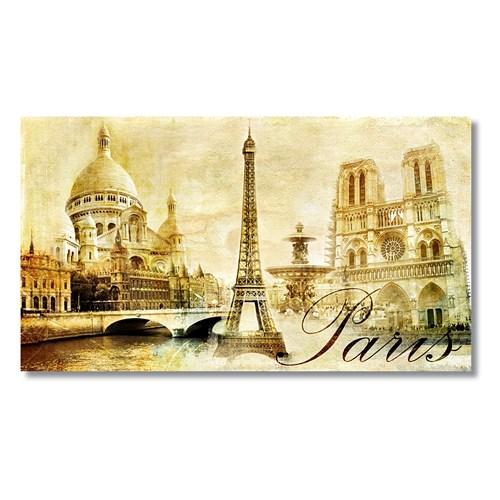 Tictac Paris Kanvas Tablo - 60X120 Cm