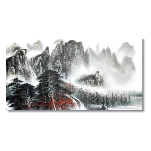 Tictac Dağlar Ve Kar Kanvas Tablo - 40X80 Cm