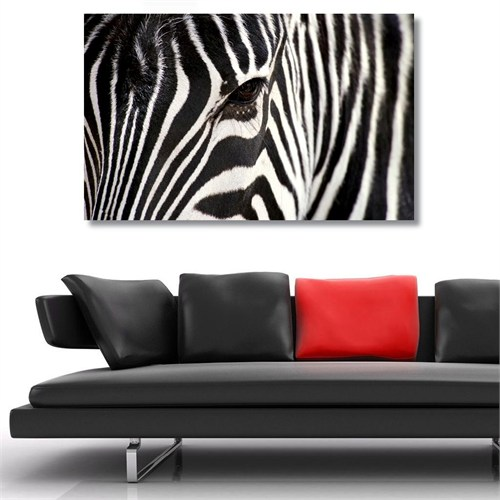 Tictac Zebra Kanvas Tablo - 40X80 Cm