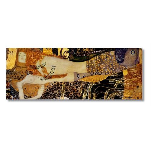 Tictac Gustav Klimt Kanvas Tablo - 40X120 Cm