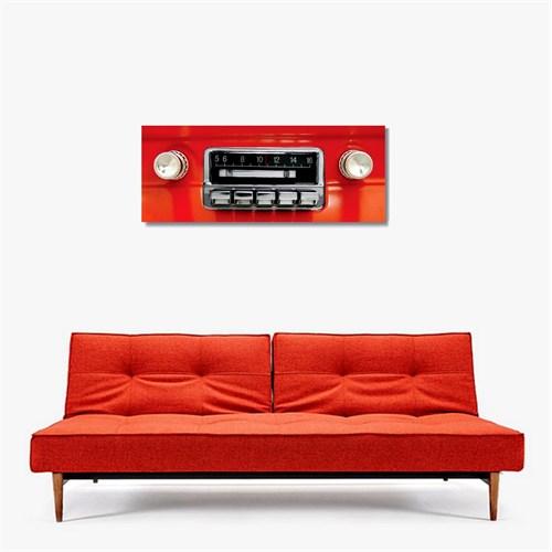 Tictac Kırmızı Radyo Kanvas Tablo - 30X90 Cm