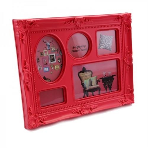 Giftpoint 5'Li Renkli Çerçeve Kırmızı