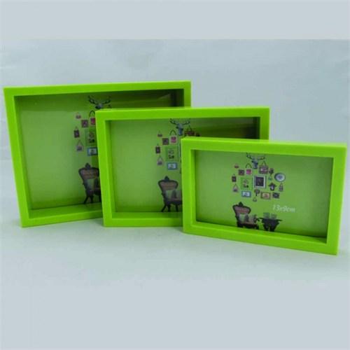 Giftpoint Dekoratif 3'Lü Çerçeve Yeşil