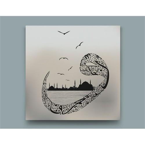 Tesbihane İstanbul Vav Desenli Kanvas Tablo