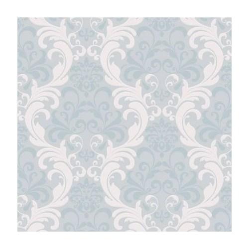 Bien Forever 14917 Açık Mavi Renkli Damask Duvar Kağıdı