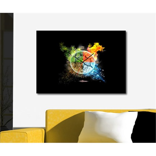 Tabloshop - Dört Mevsim Canvas Tablo Saat - 45X30cm