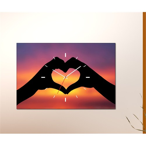 Tabloshop - Love Canvas Tablo Saat - 45X30cm