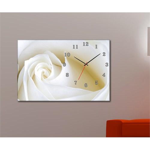 Tabloshop - Floral Iıı Canvas Tablo Saat - 45X30cm