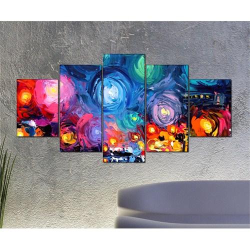 Tabloshop - Kp-16 5 Parçalı Canvas Tablo - 123X56cm
