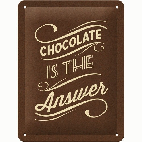 Nostalgic Art Chocolate İs The Answer Metal Kabart Malı Pin Up Duvar Panosu (15 X 20 Cm)