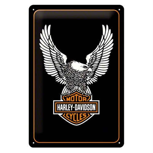 Nostalgic Art Harley Davidson Eagle Metal Kabart Malı Duvar Panosu (20 X 30 Cm)