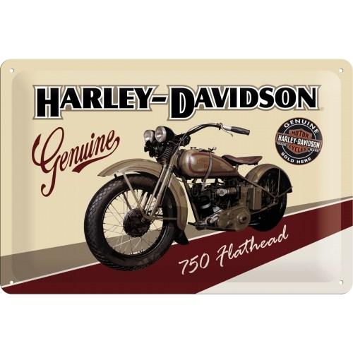 Nostalgic Art Harley Davidson Flathead Metal Kabart Malı Duvar Panosu (20 X 30 Cm)