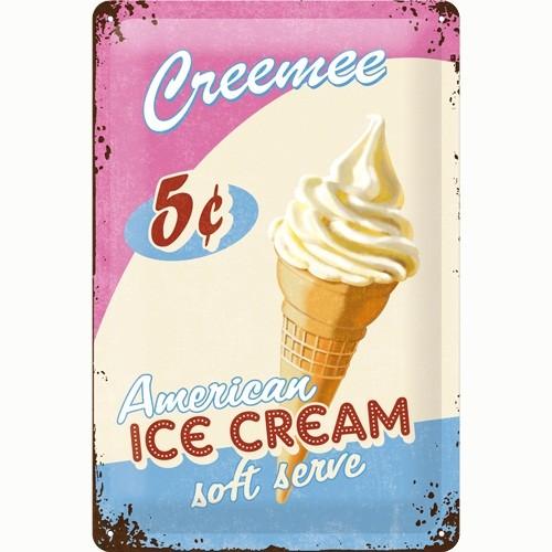 Nostalgic Art Ice Cream Metal Kabart Malı Duvar Panosu (20 X 30 Cm)