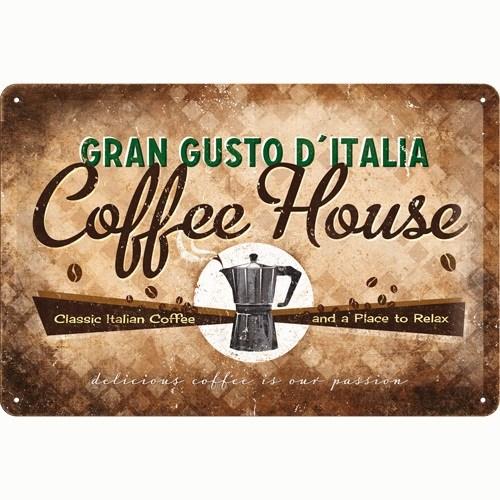 Nostalgic Art Coffee House Metal Kabart Malı Duvar Panosu (20 X 30 Cm)