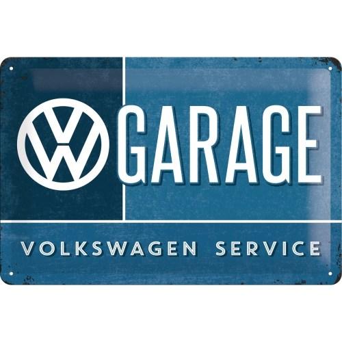 Nostalgic Art Vw Garage Metal Kabart Malı Duvar Panosu (20X30 Cm)