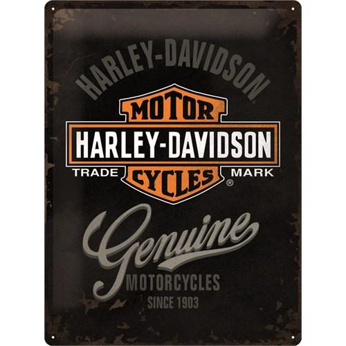 Nostalgic Art Harley Davidson Genuine Metal Kabart Malı Duvar Panosu (30 X 40 Cm)