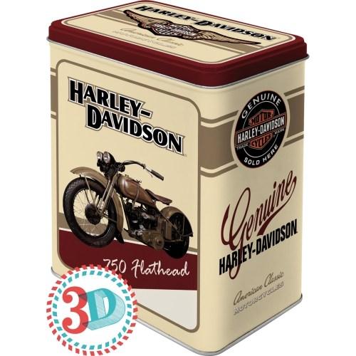 Nostalgic Art Harley Davidson Flathead Teneke Saklama Kutusu (Large)