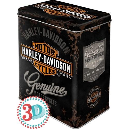 Nostalgic Art Harley Davidson Genuine Teneke Saklama Kutusu (Large)