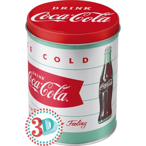 Nostalgic Art Coca Cola Yuvarlak Kabart Malı Metal Saklama Kutusu