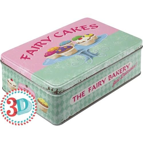 Nostalgic Art Fairy Cakes - Fresh Everyday Yatay Teneke Saklama Kutusu