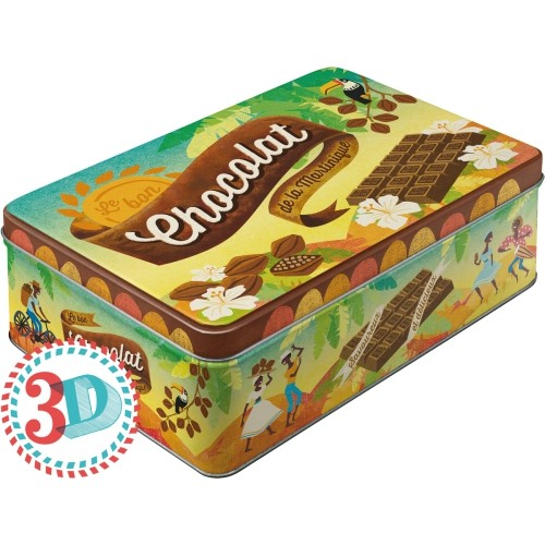 Nostalgic Art Chocolat Yatay Teneke Saklama Kutusu