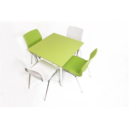 Mavi Mobilya Plastik Masa Takımı Prst022 4 Plastik Sandalyeli Yeşil Beyaz