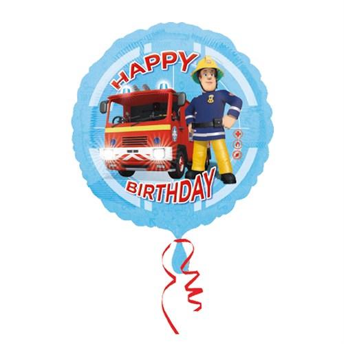 KullanAtMarket Fireman Sam Happy Birthday Folyo Balon 43 Cm 1 Adet