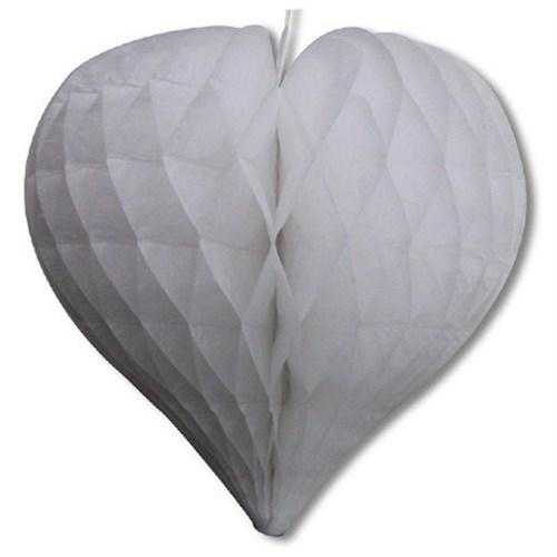 Pandoli Beyaz Renk Küçük Boy Petek Kalp Süs