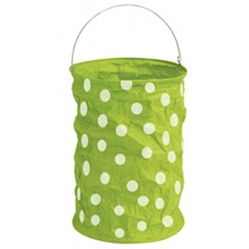 Pandoli Daisy Yeşil Puantiyeli Fener 24 Cm