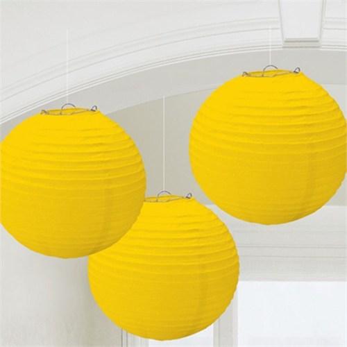 Pandoli Sarı Kağıt Fener Seti 3 Adet