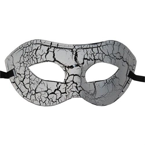 Pandoli Siyah Beyaz Çatlak Göz Maskesi